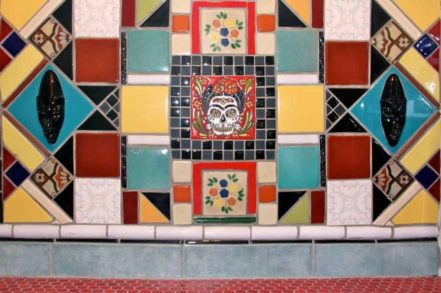 Mexican Art Deco Inspired Kitchen Tile Backsplash By Farin